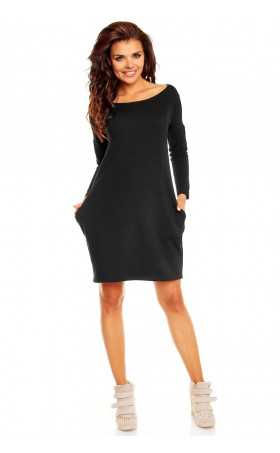 Свободна черна рокля Розета