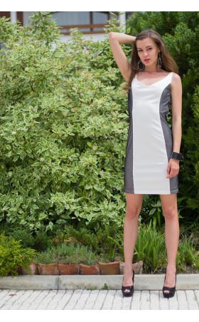 Бяла рокля с черна мрежа Елън