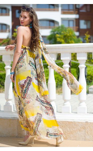 Дълга лятна рокля Деница