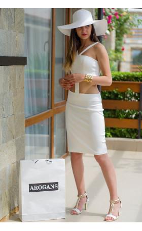 Атрактивна бяла рокля Амбър
