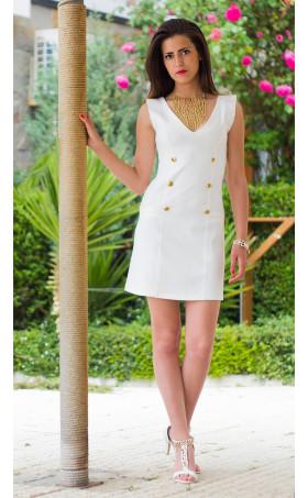 Малка бяла рокля Лора