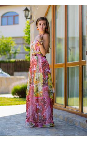 Шифонена дълга рокля Челси