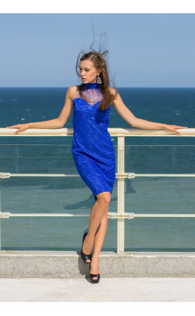 Официална рокля в синьо с Изида