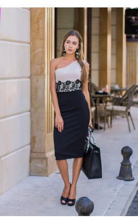 Елегантна рокля с една презрамка