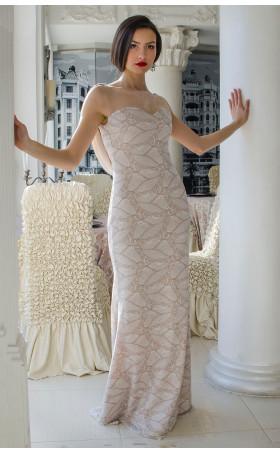 Дълга дантелена рокля Алмира