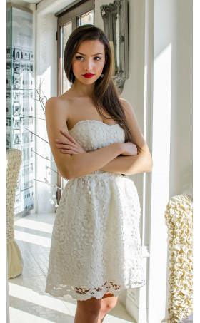 Официална бяла рокля Мирабел