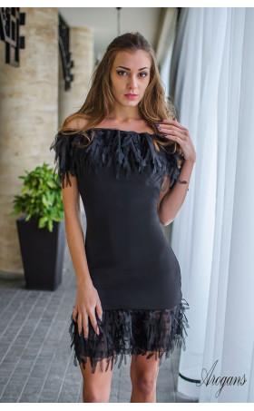 Мини клубна рокля в черно Miss Burlesque
