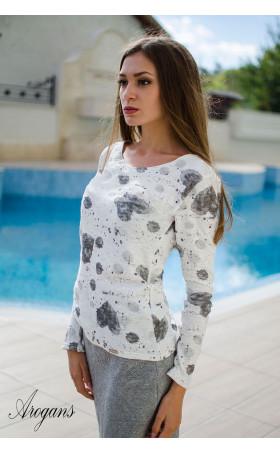 Блуза от фино плетиво Hearts