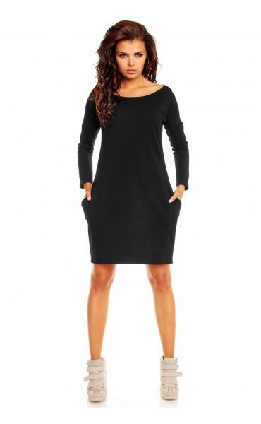 Свободна черна рокля Розета _12072