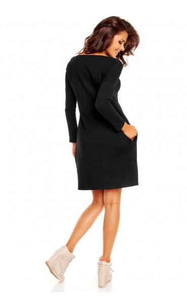 Свободна черна рокля Розета _12074