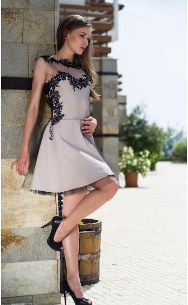 Официална рокля подплатена с тюл Карa_13337