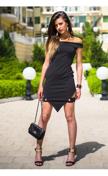 Къса асиметрична рокля Лейла
