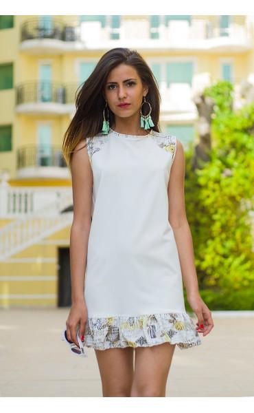 Къса рокля с къдрички Линет_13431