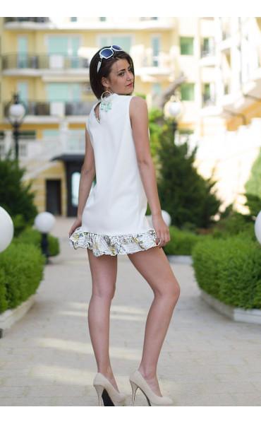 Къса рокля с къдрички Линет_13433