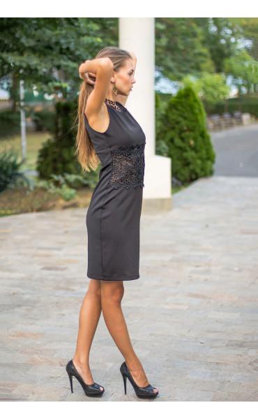 Официална черна рокля Нанси_13916