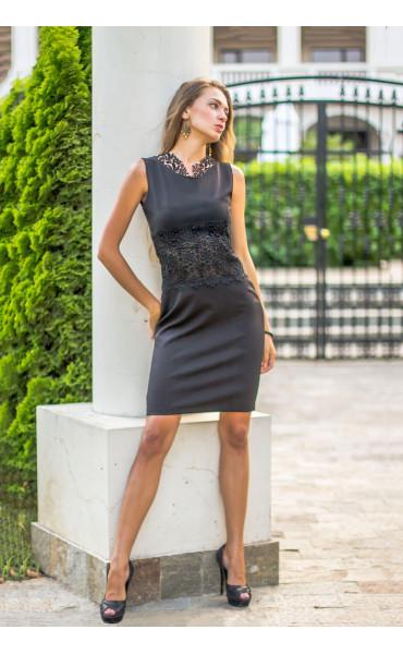 Официална черна рокля Нанси_13918