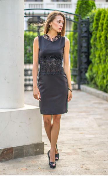 Официална черна рокля Нанси_13919