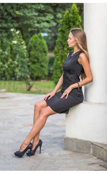 Официална черна рокля Нанси_13921