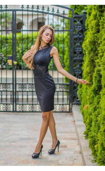 Официална черна рокля Нанси_13922