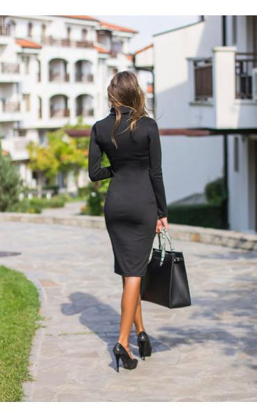 Зимна рокля с поло яка Стефания_14001