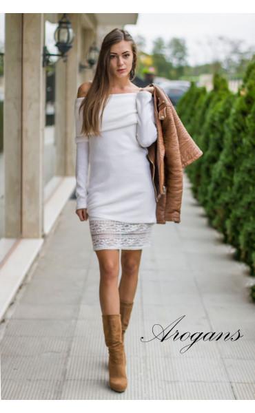 Комплект туника от плетиво и къса рокля с дантела Snow Queen