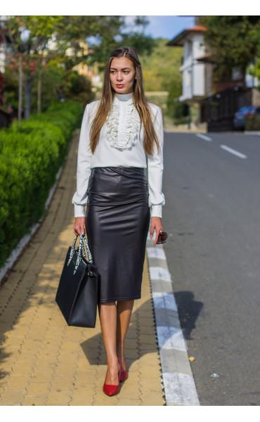 Зимна блуза с поло яка Кели_14179