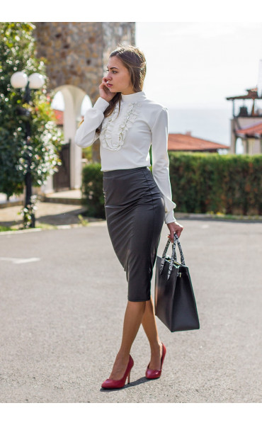 Зимна блуза с поло яка Кели_14185