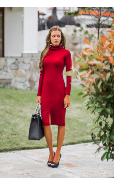 Червена рокля Стефания_14298