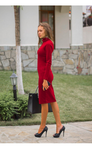 Червена рокля Стефания_14299