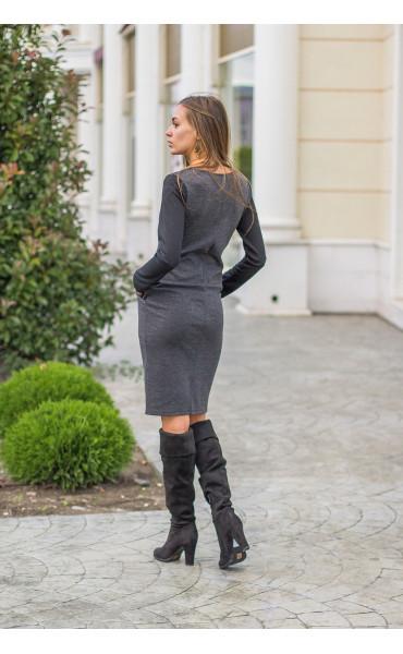 Ежедневна двуцветна рокля Адриана _14310