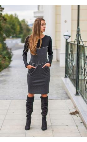 Ежедневна двуцветна рокля Адриана