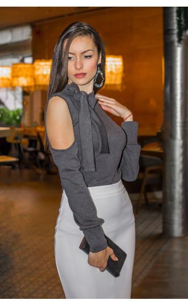 Блуза с панделка _14380