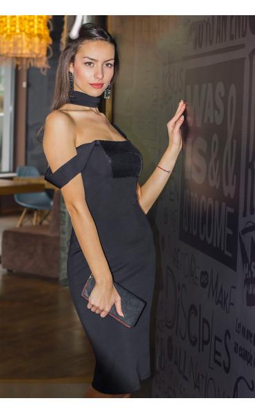 Елегантна рокля с пайети_14401