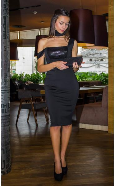 Елегантна рокля с пайети_14402