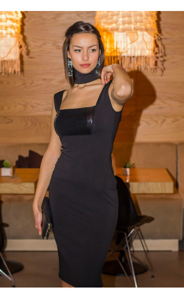 Елегантна рокля с пайети_14405