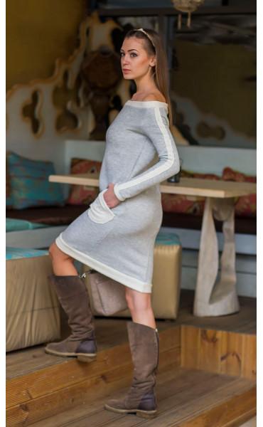 Спортна рокля ватирано трико_14419