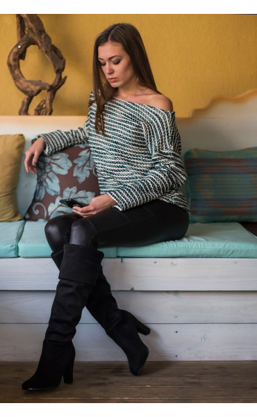 Oversize пуловер _14424