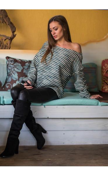Oversize пуловер _14425