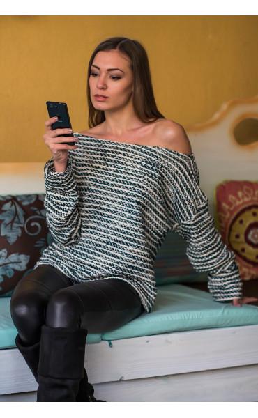 Oversize пуловер _14426