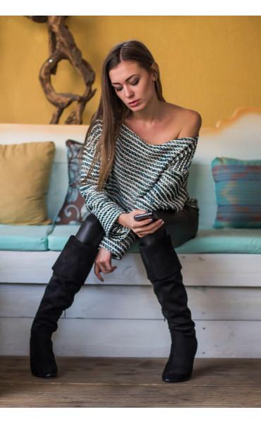 Oversize пуловер _14428
