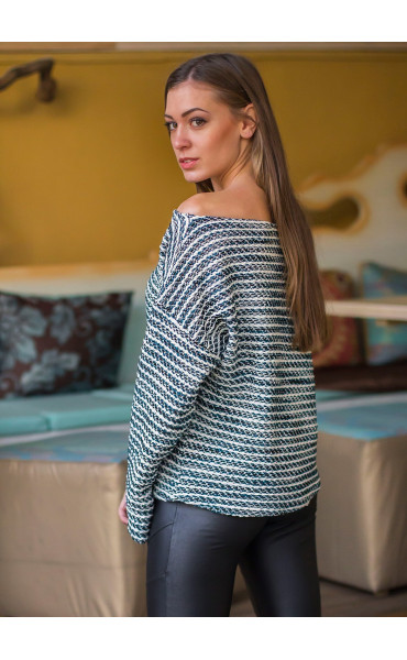Oversize пуловер _14430