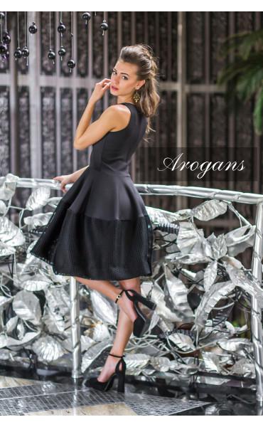 Черна рокля Принцес _14550