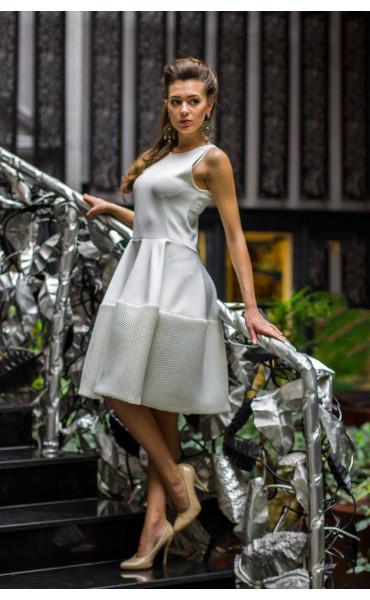 Рокля в бяло Принцес _14561