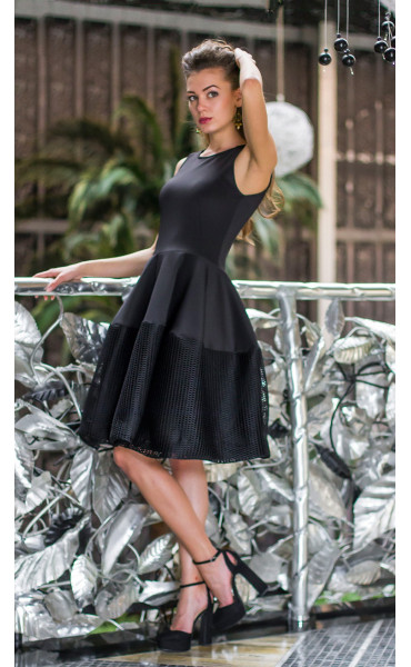 Черна рокля Принцес _14579