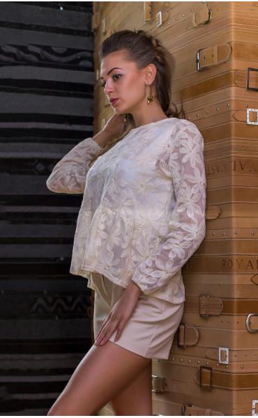 Блуза в цвят екрю Ясмин_14587
