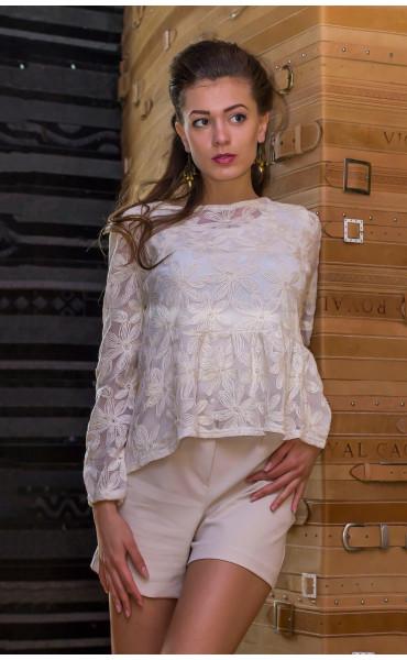 Блуза в цвят екрю Ясмин_14588