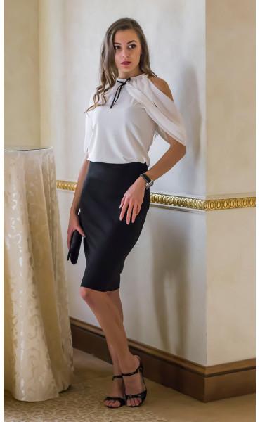 Блуза с панделка Каралайн _14653