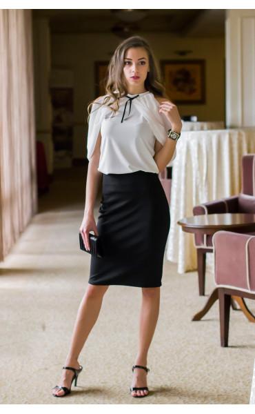 Блуза с панделка Каралайн _14654