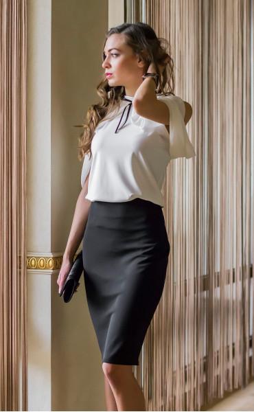 Блуза с панделка Каралайн _14656