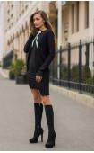 Комплект Каприз в черно - туника и рокля